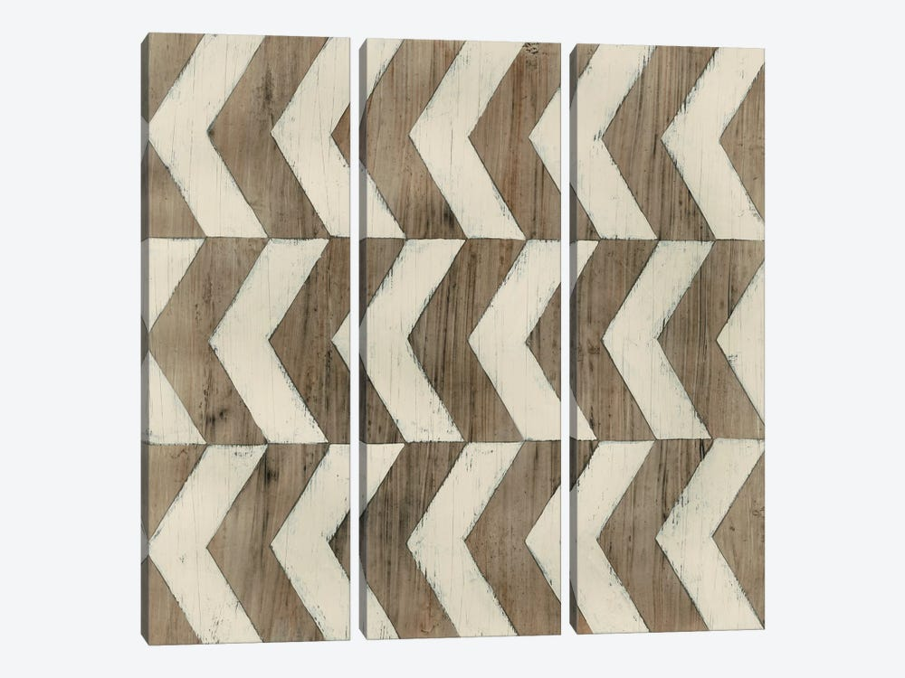 Driftwood Geometry III by June Erica Vess 3-piece Canvas Print