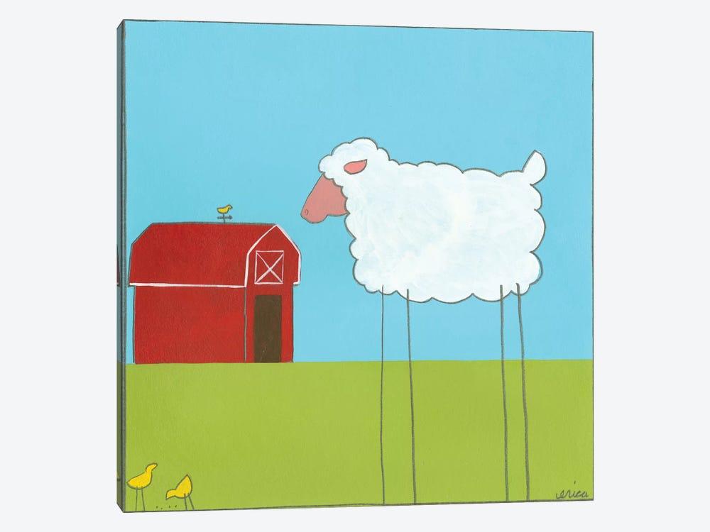 Sheep II by June Erica Vess 1-piece Canvas Wall Art