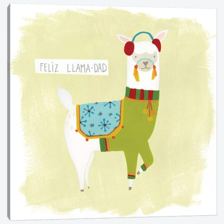 Fa-la-la-la Llama III Canvas Print #JEV521} by June Erica Vess Canvas Print