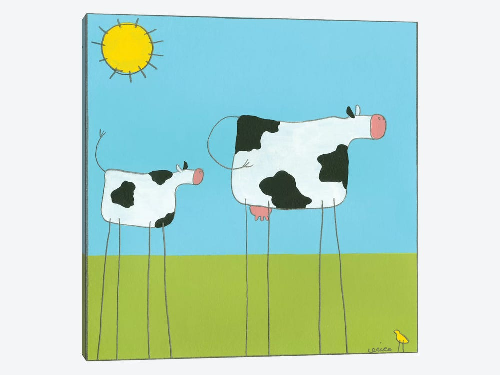 Cow I by June Erica Vess 1-piece Canvas Print
