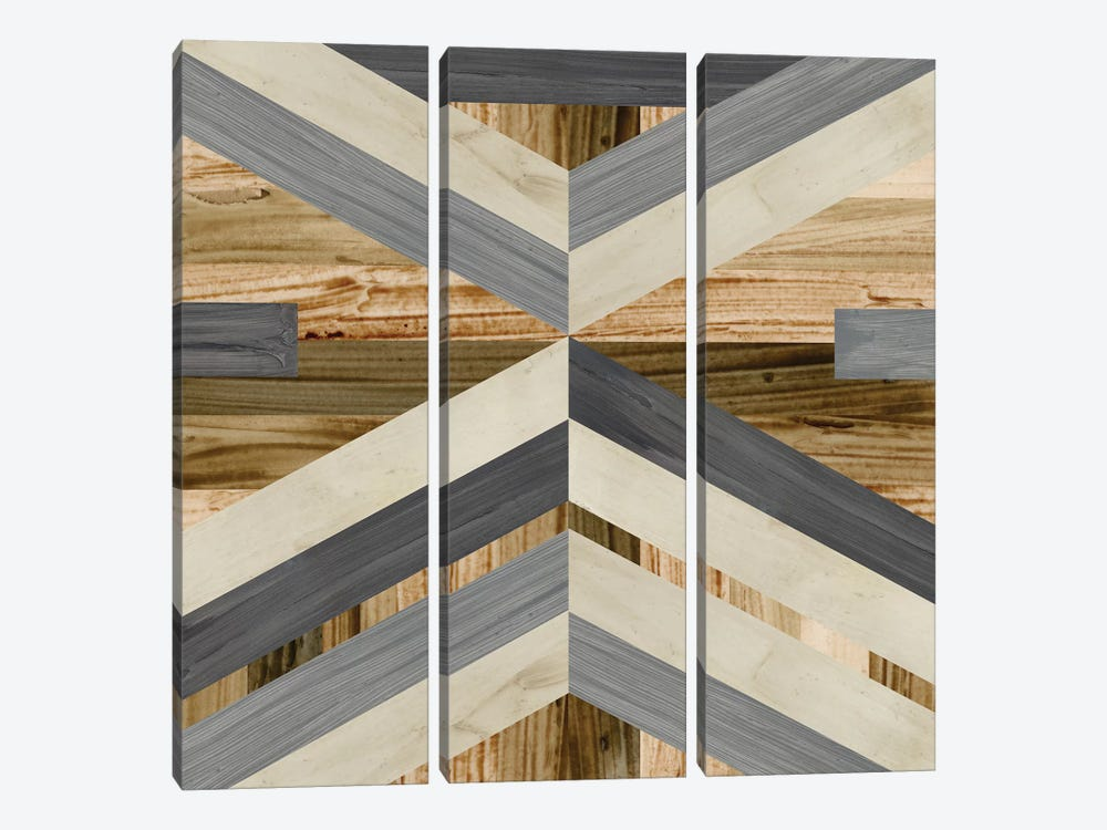 Geometric Inlay I by June Erica Vess 3-piece Canvas Art Print