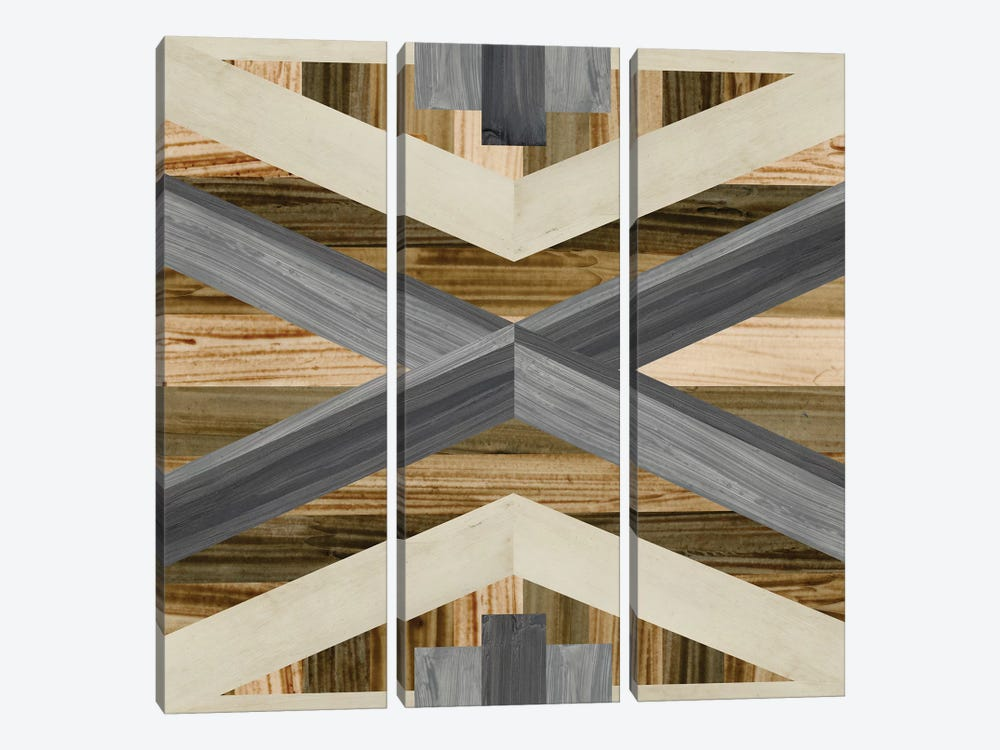 Geometric Inlay III 3-piece Canvas Print