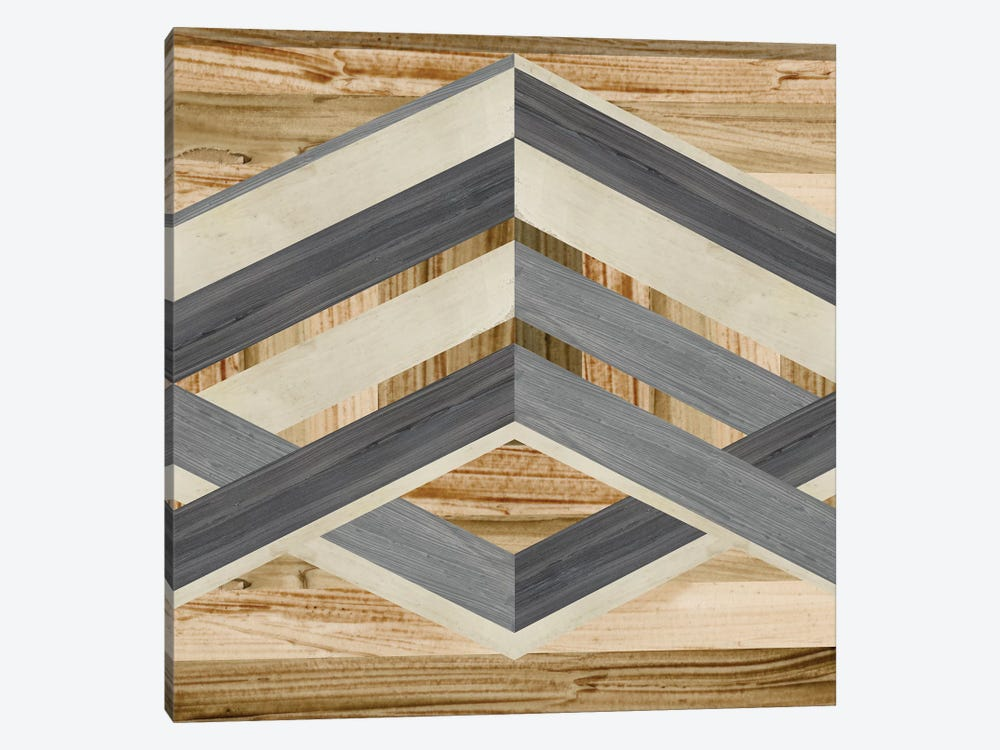 Geometric Inlay IV by June Erica Vess 1-piece Canvas Wall Art