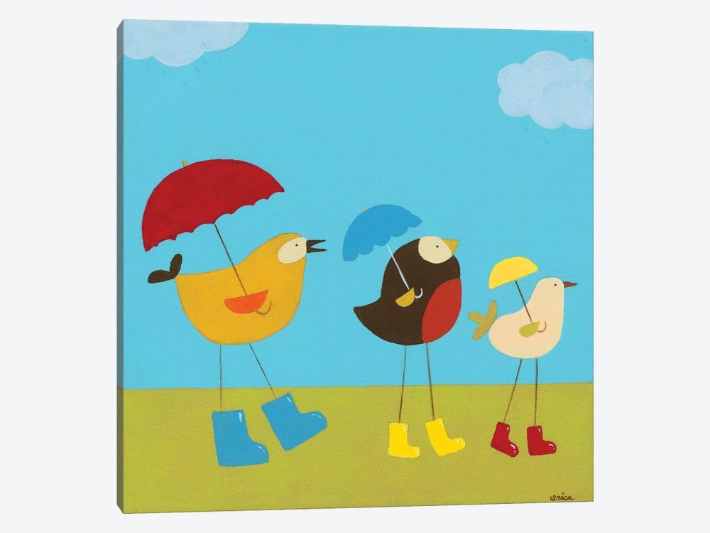 Rainy Day Birds I by June Erica Vess 1-piece Art Print
