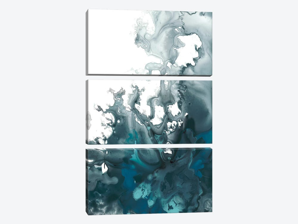 Indigo Tempest I by June Erica Vess 3-piece Canvas Art