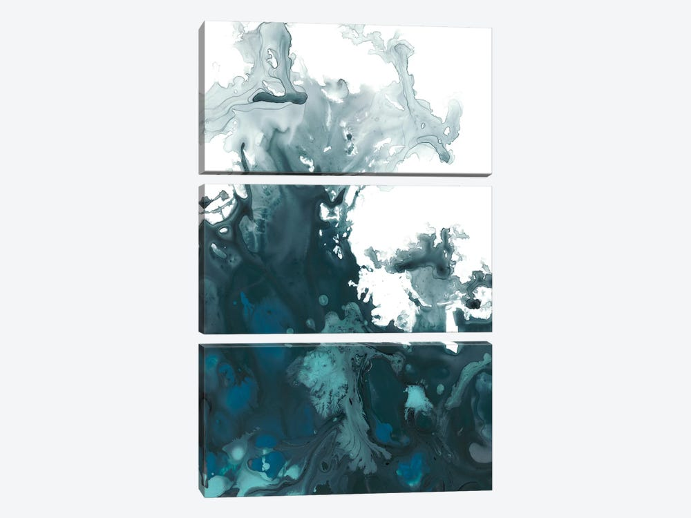 Indigo Tempest II 3-piece Canvas Art Print