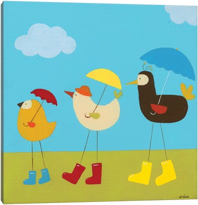 Rainy Day Birds II Canvas Print #JEV55