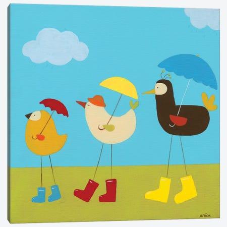 Rainy Day Birds II Canvas Print #JEV55} by June Erica Vess Canvas Artwork