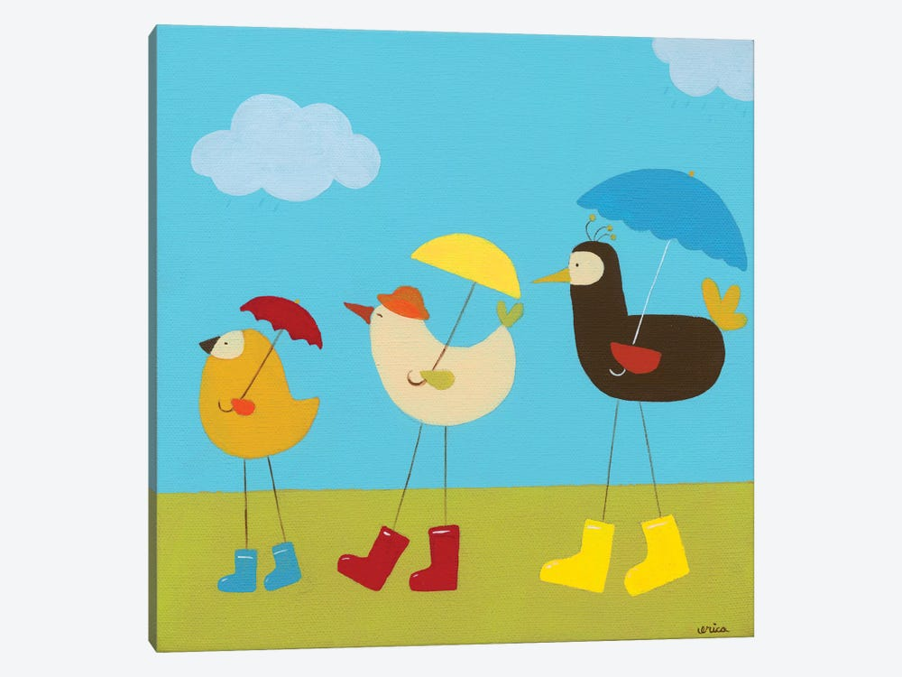 Rainy Day Birds II by June Erica Vess 1-piece Canvas Art