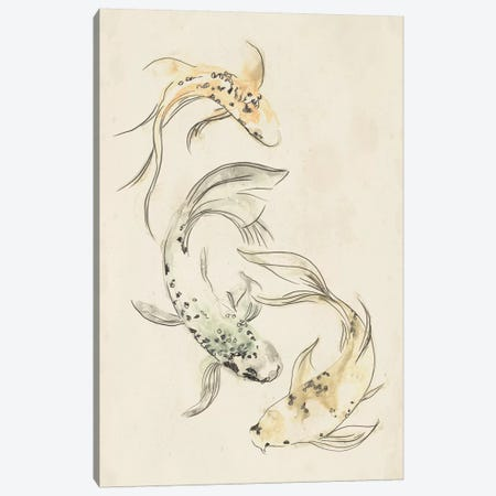 Koi Dance I Canvas Print #JEV569} by June Erica Vess Canvas Art Print