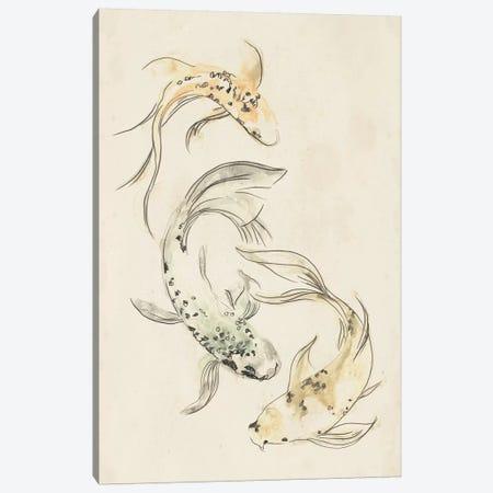 Koi Dance I Canvas Print #JEV569} by June Erica Vess Canvas Art Print