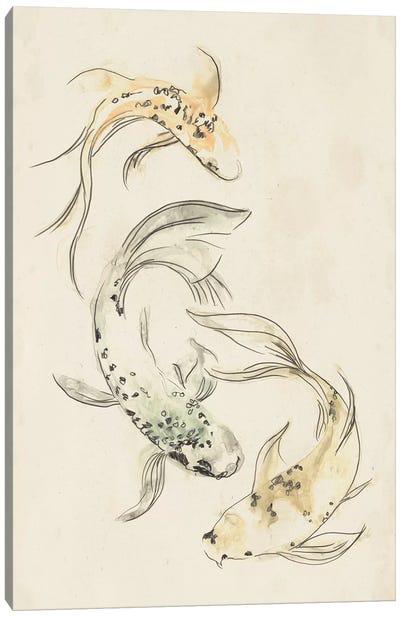 Koi Dance I Canvas Art Print