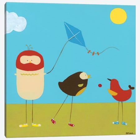 Sunny Day Birds I Canvas Print #JEV56} by June Erica Vess Canvas Art