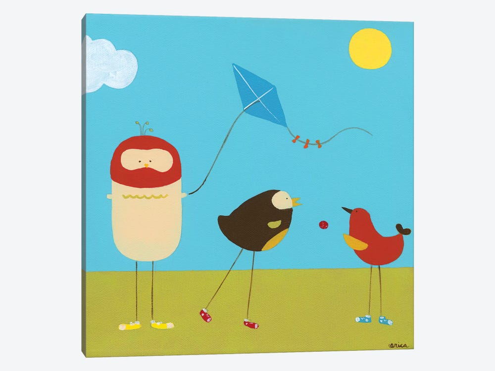Sunny Day Birds I by June Erica Vess 1-piece Art Print