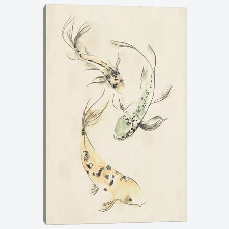Koi Dance II Canvas Print #JEV570} by June Erica Vess Canvas Art