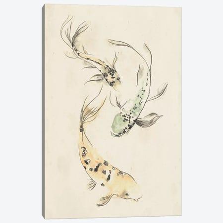 Koi Dance II Canvas Print #JEV570} by June Erica Vess Canvas Art