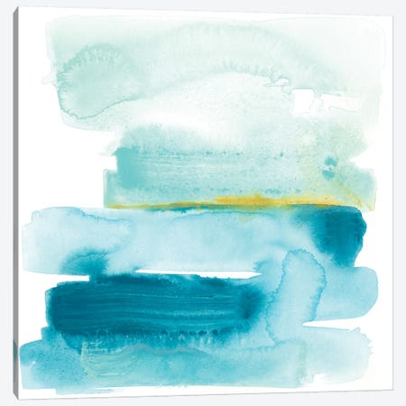Liquid Shoreline I Canvas Print #JEV573} by June Erica Vess Canvas Art