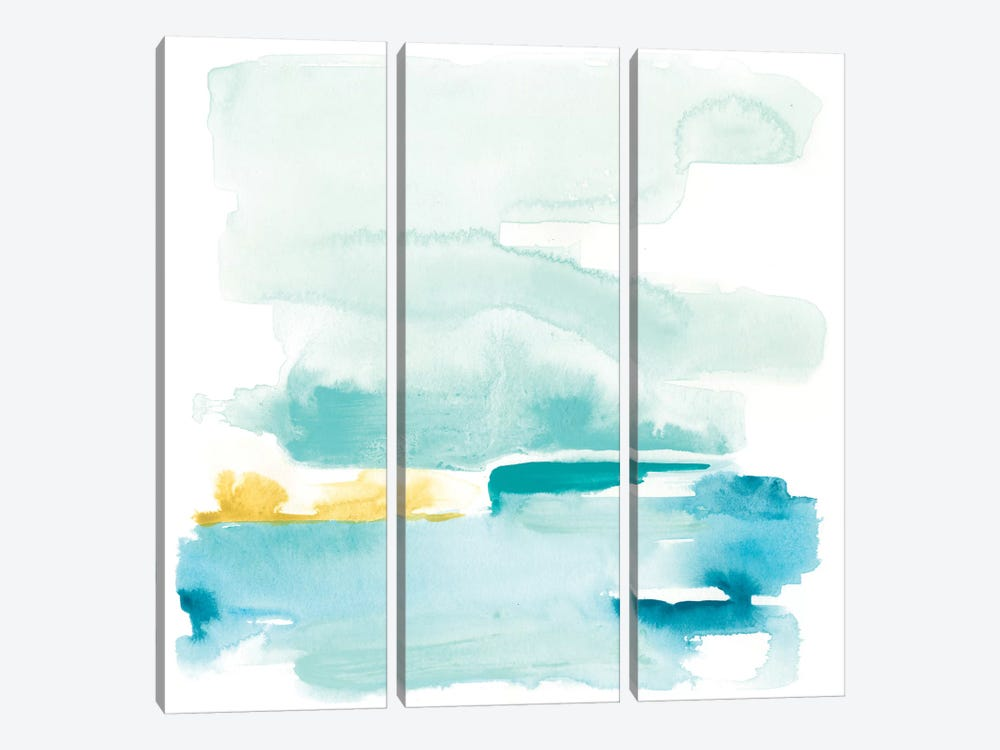 Liquid Shoreline II 3-piece Canvas Art Print