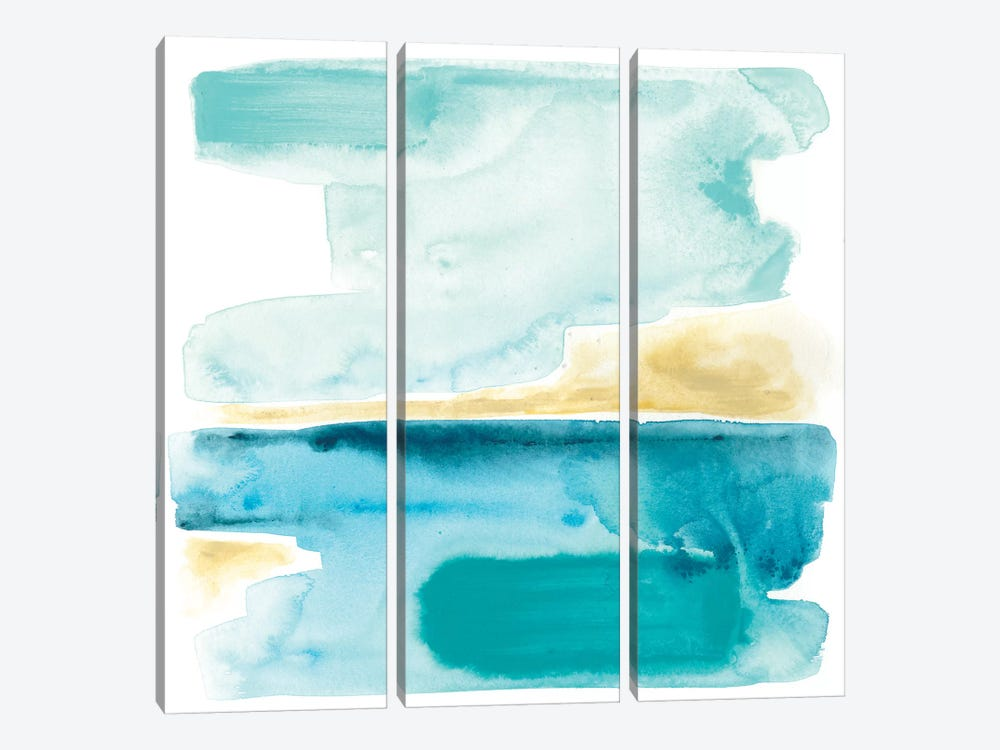 Liquid Shoreline III 3-piece Canvas Art