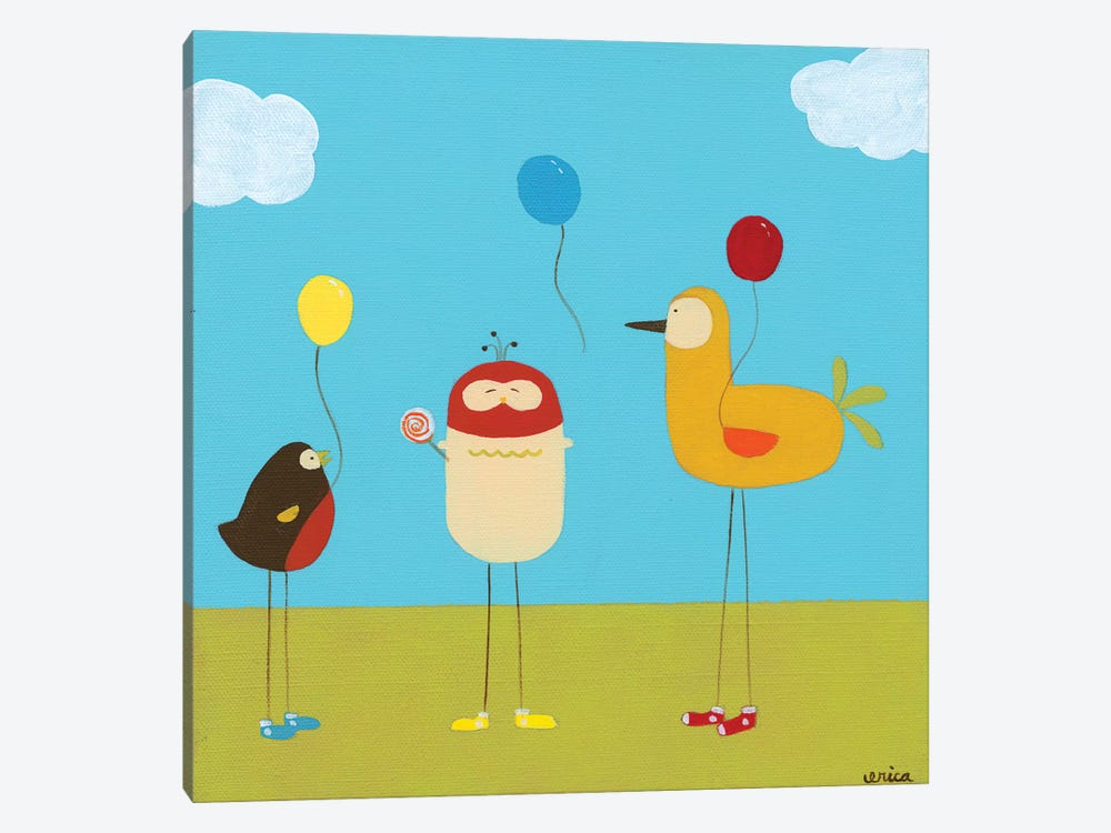Sunny Day Birds II by June Erica Vess 1-piece Canvas Art