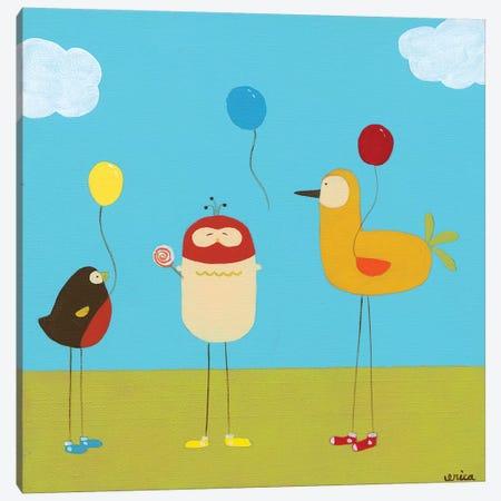 Sunny Day Birds II Canvas Print #JEV57} by June Erica Vess Canvas Artwork