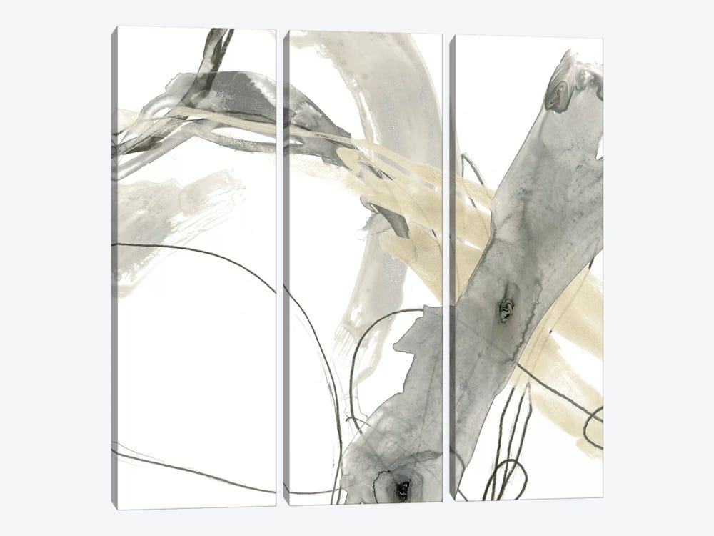 Monochrome Momentum III by June Erica Vess 3-piece Canvas Artwork