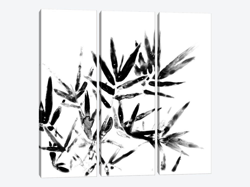 Monochrome Tropic VIII by June Erica Vess 3-piece Canvas Print