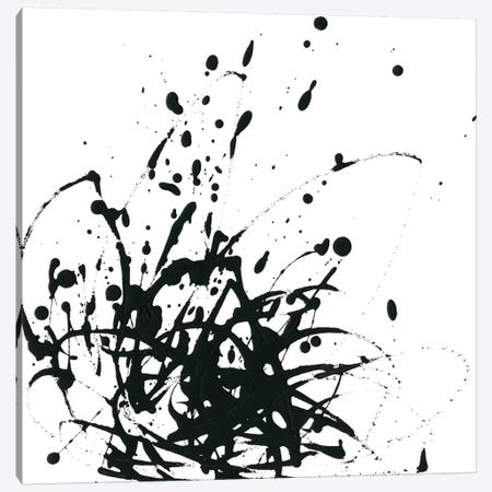 Onyx Expression I Canvas Print #JEV599} by June Erica Vess Canvas Artwork