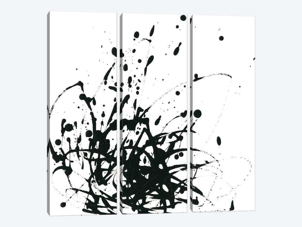 Onyx Expression I by June Erica Vess 3-piece Canvas Artwork