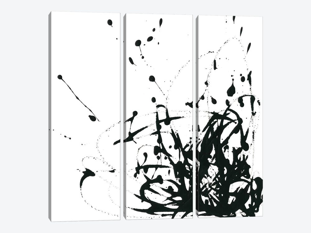 Onyx Expression II by June Erica Vess 3-piece Canvas Art