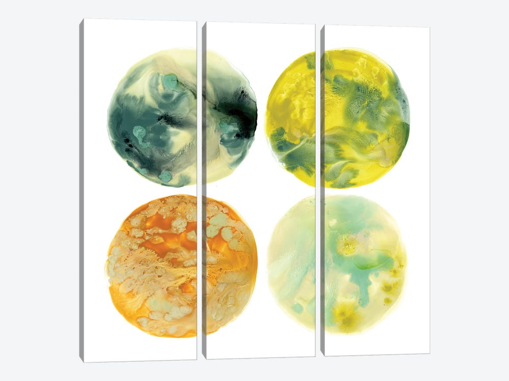 Planetary VI by June Erica Vess 3-piece Canvas Print