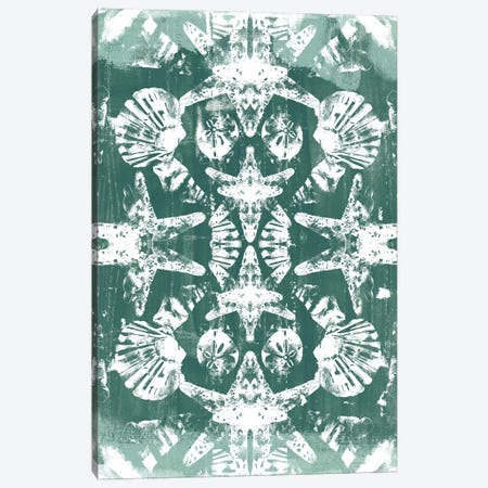 Sea Green Kaleidoscope I Canvas Print #JEV627} by June Erica Vess Canvas Print