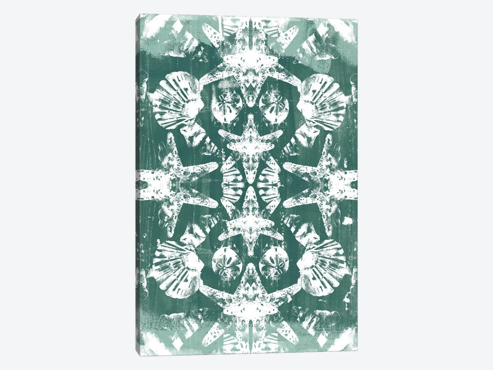 Sea Green Kaleidoscope I by June Erica Vess 1-piece Canvas Print
