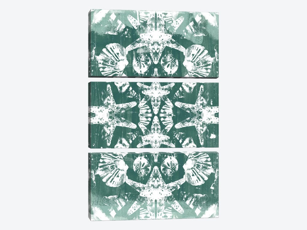 Sea Green Kaleidoscope I by June Erica Vess 3-piece Canvas Print