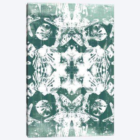 Sea Green Kaleidoscope III Canvas Print #JEV629} by June Erica Vess Canvas Wall Art