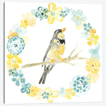 Solo Songbird I Canvas Print #JEV635} by June Erica Vess Canvas Wall Art