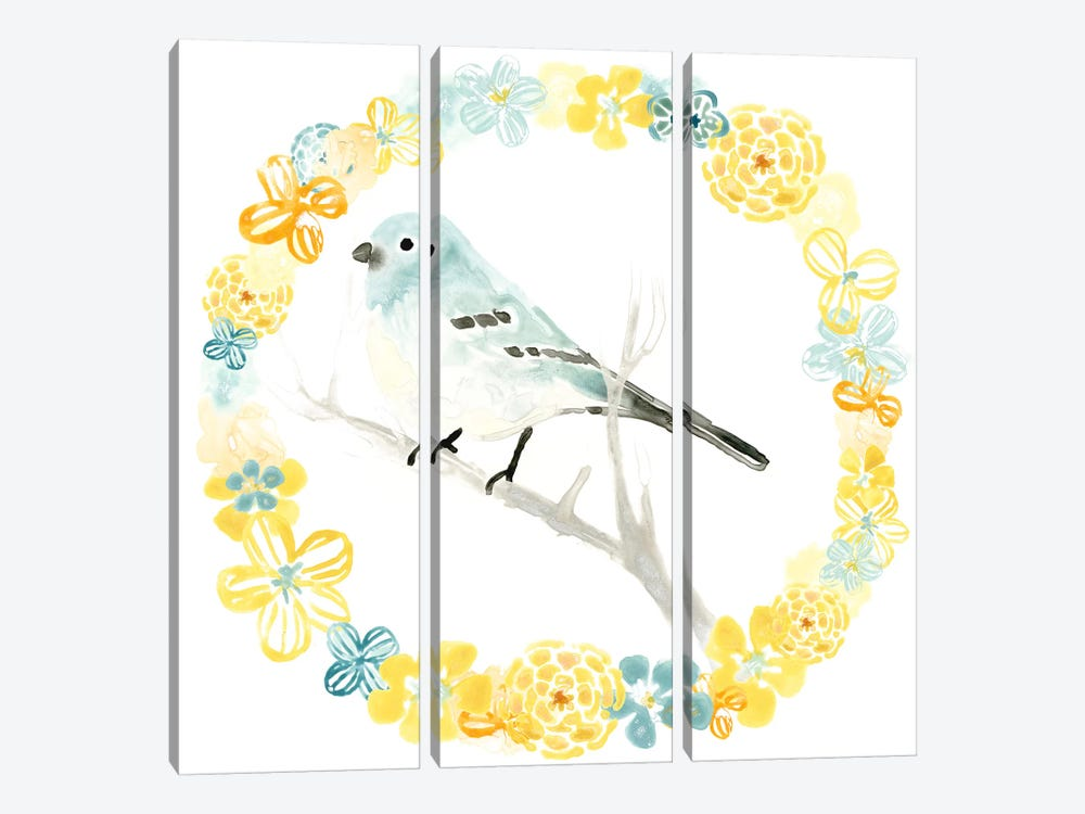 Solo Songbird III 3-piece Canvas Art