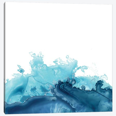 Splash Wave III Canvas Print #JEV641} by June Erica Vess Canvas Wall Art