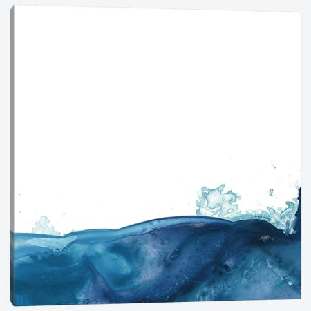 Splash Wave V Canvas Print #JEV643} by June Erica Vess Canvas Wall Art