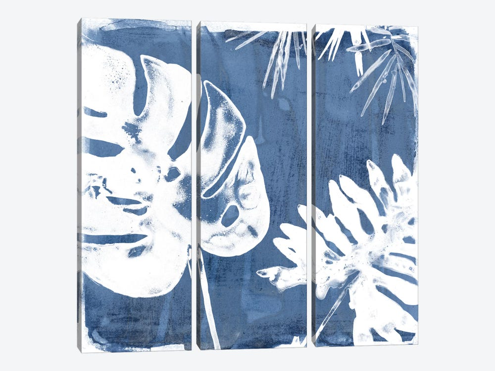 Tropical Indigo Impressions I by June Erica Vess 3-piece Canvas Print
