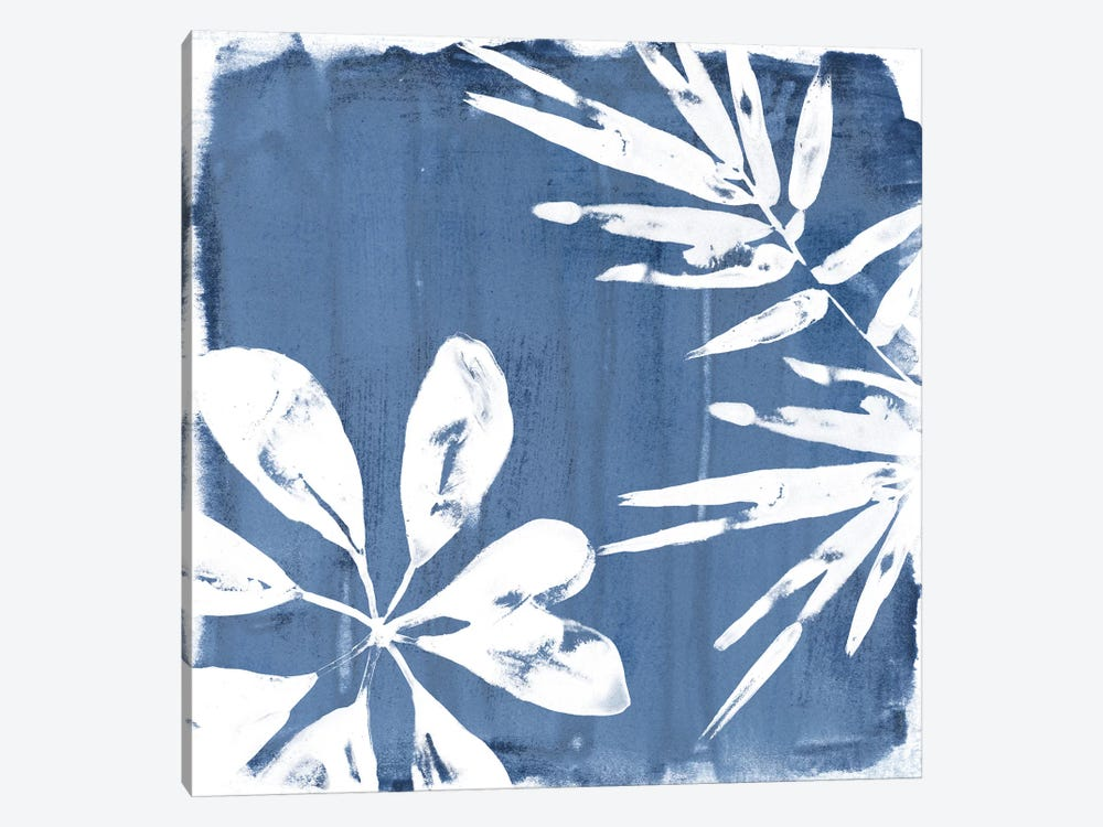 Tropical Indigo Impressions III by June Erica Vess 1-piece Canvas Print