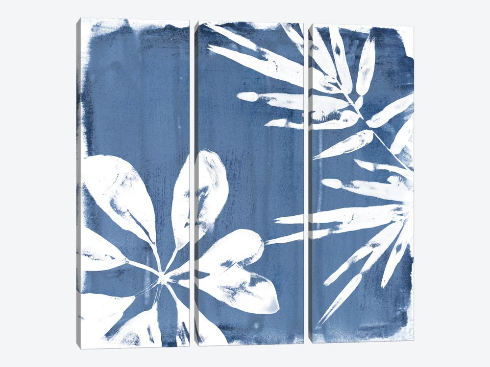 Tropical Indigo Impressions III by June Erica Vess 3-piece Art Print