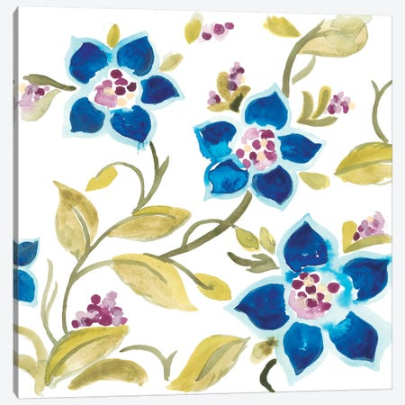Abbey Floral Tiles II Canvas Print #JEV685} by June Erica Vess Art Print