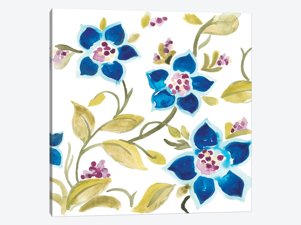 Abbey Floral Tiles II 1-piece Art Print