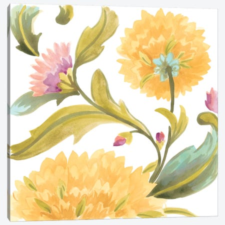Abbey Floral Tiles III Canvas Print #JEV686} by June Erica Vess Canvas Art Print