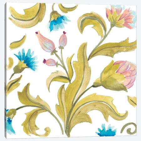 Abbey Floral Tiles IX Canvas Print #JEV688} by June Erica Vess Canvas Wall Art