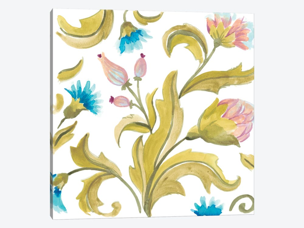Abbey Floral Tiles IX by June Erica Vess 1-piece Canvas Artwork