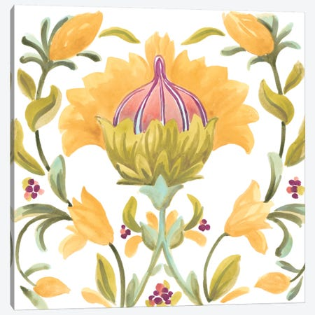 Abbey Floral Tiles V Canvas Print #JEV689} by June Erica Vess Canvas Art