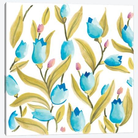Abbey Floral Tiles VI Canvas Print #JEV690} by June Erica Vess Canvas Print