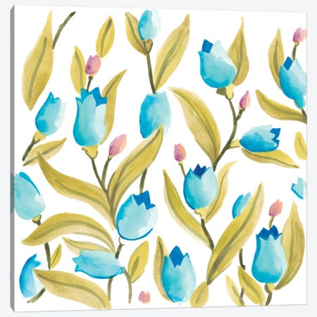 Abbey Floral Tiles VI Canvas Print #JEV690} by June Erica Vess Canvas Print
